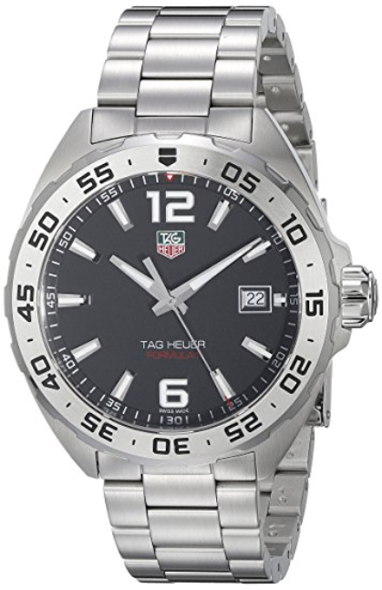 Amazon com TAG Heuer Men's WAZ1112 BA0875 Formula 1 Stainless Steel