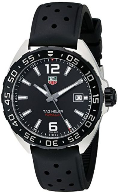 TAG Heuer Men's WAZ1110 FT8023 Formula 1 Stainless Steel Watch with Black Band